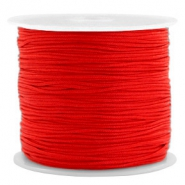 Macramé draad 0.8mm Candy red