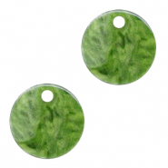 Resin hangers rond 12mm Olive green