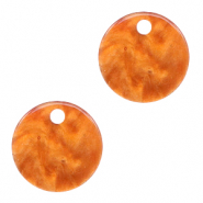 Resin hangers rond 12mm Flame orange