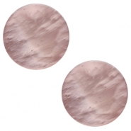 12 mm platte cabochon Polaris Elements Mosso shiny Taupe brown
